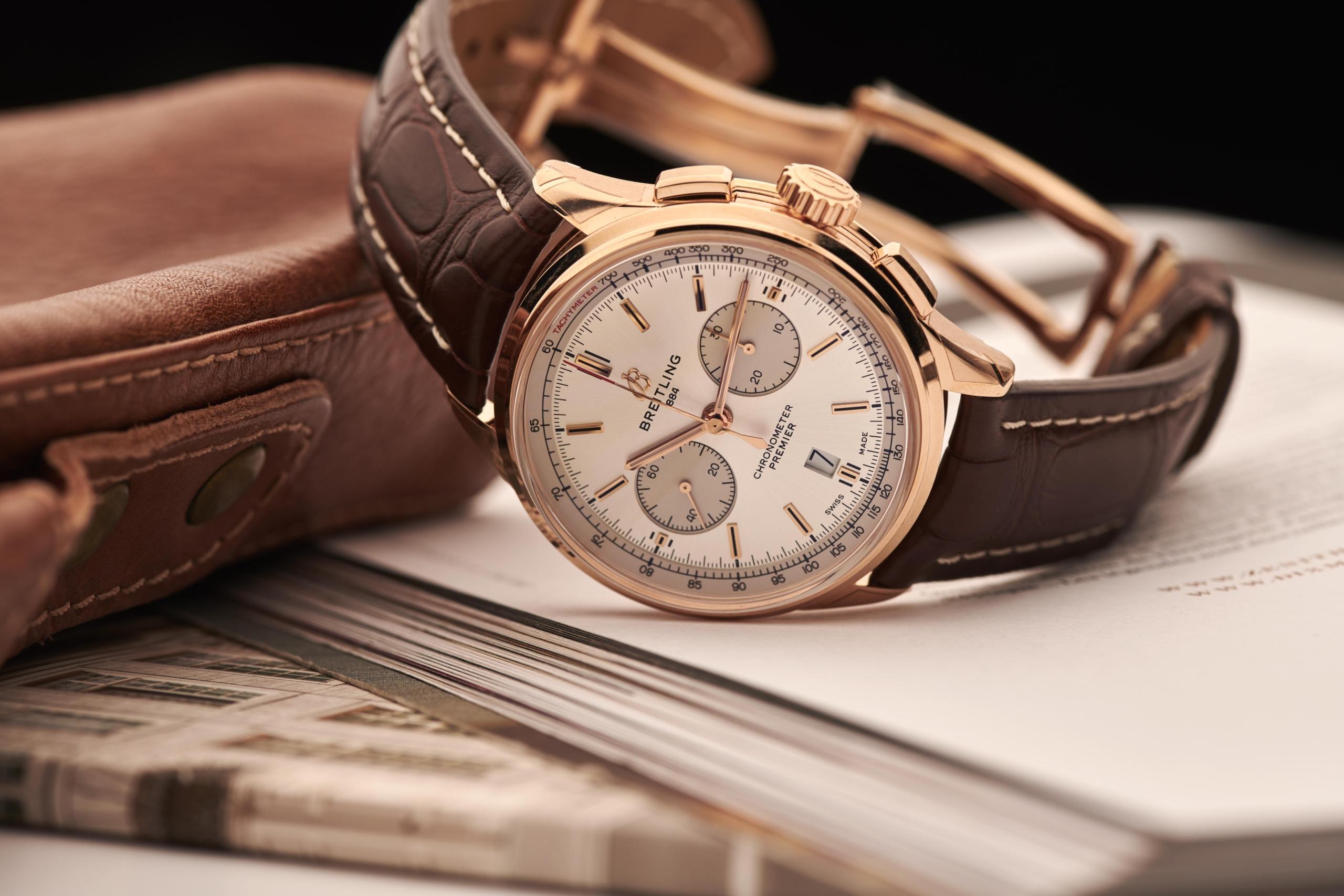 Breitling Premier Chronograph 18kt gold